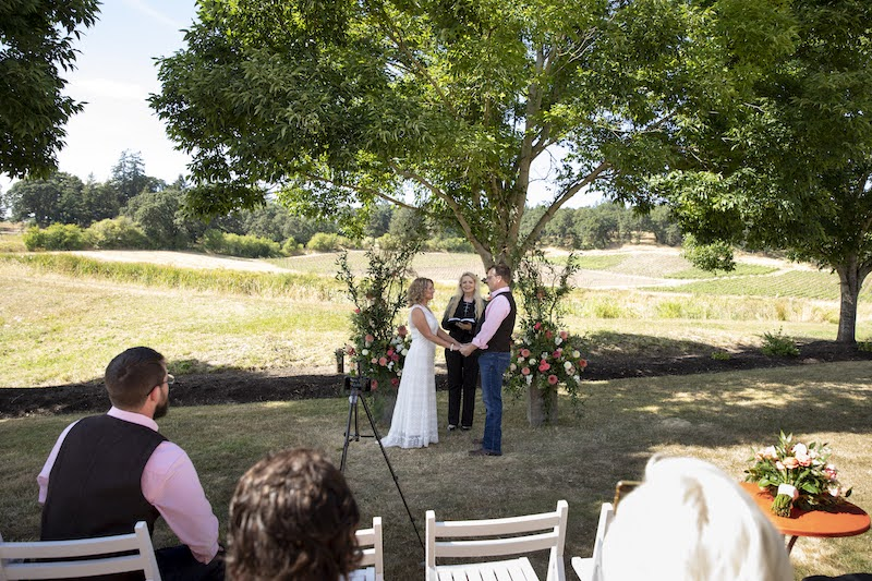 Opting for an outdoor space will significantly reduce your venue cost. Kamille & Shawn chose Stoller Winery in Dayton, Oregon.