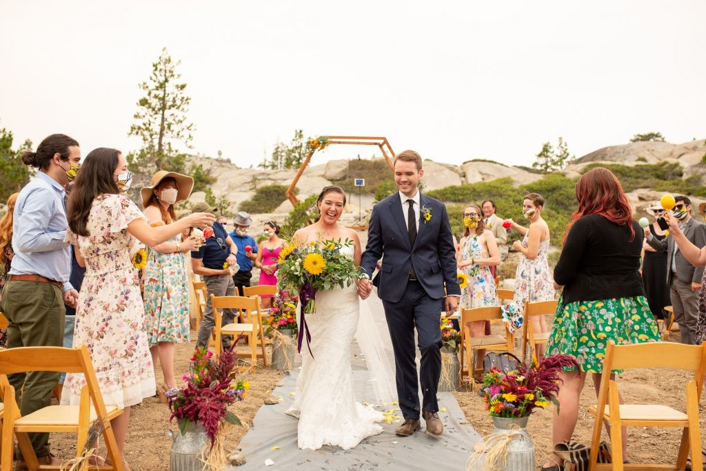 Marisa and Dacklin tied the knot with the stunning backdrop as their virtual wedding venue.