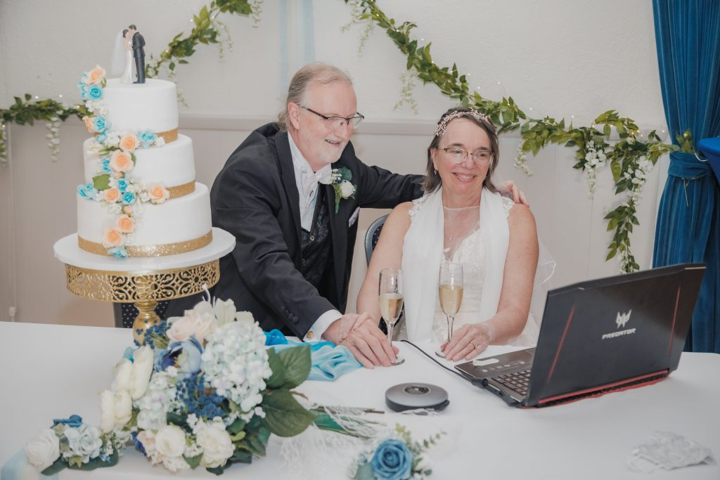 Couples of all ages have pulled off beautiful Zoom weddings while working with a virtual wedding service like Wedfuly.